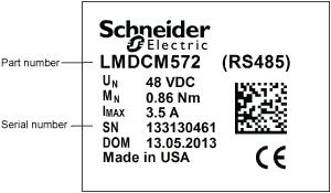 Part number label