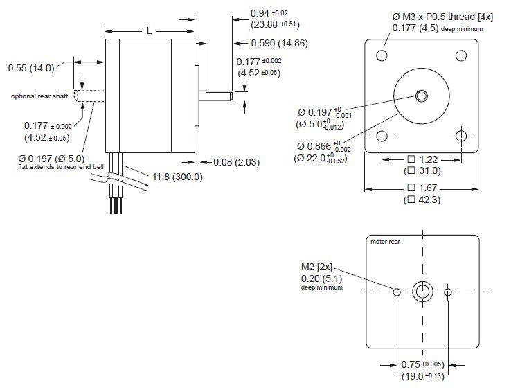 NEMA 17 (42 mm) dimensions