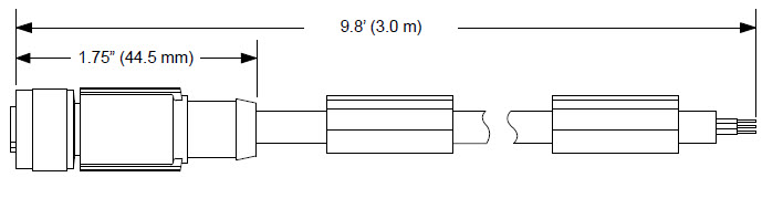 MD-CS650-000 5-pin M12 A-coded (Female) to flying leads